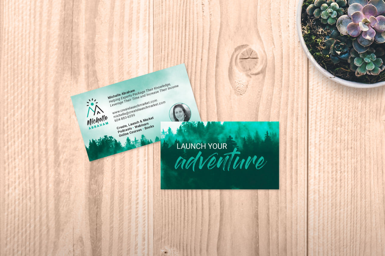 Michelle Abraham Consulting business card design by Caitey Gilchrist Creative
