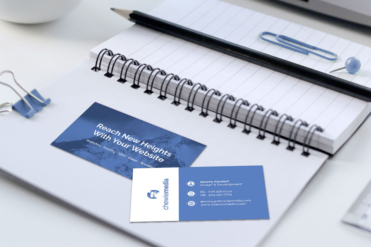 Chewie Media branded business cards by Caitey Gilchrist Creative
