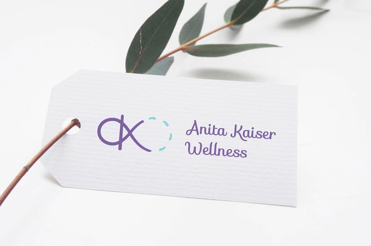 Anita Kaiser Wellness logo design by Caitey Gilchrist Creative
