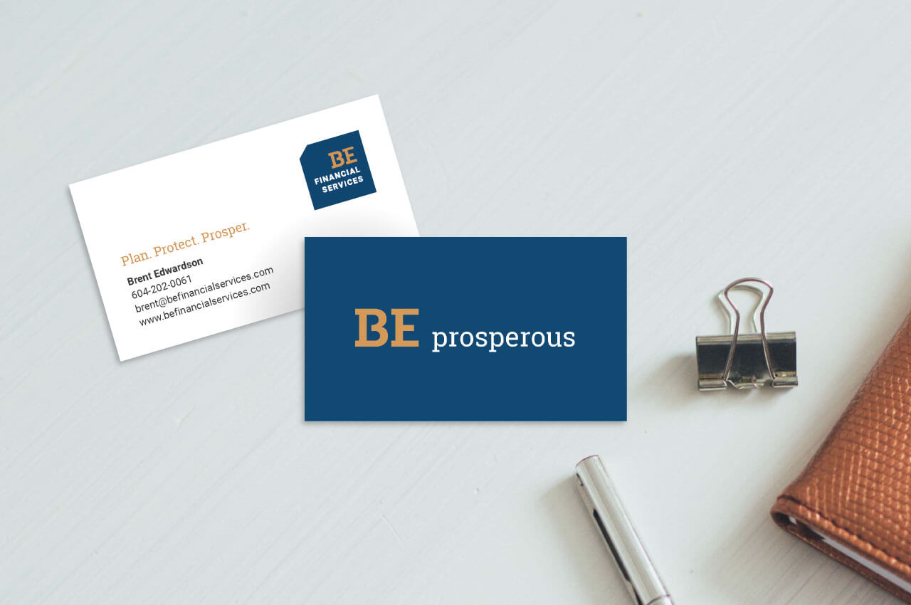 BE Financial Services business card design by Caitey Gilchrist Creative