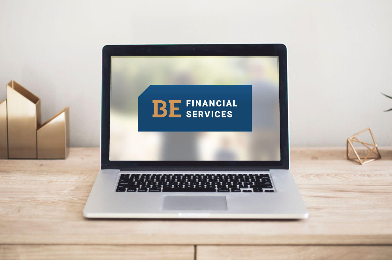 BE Financial Services logo design by Caitey Gilchrist Creative